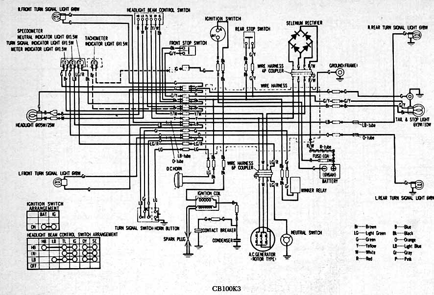 Honda CB100K3 Electrical wiring diagram stunning 95 honda nighthawk cb750 wiring schematic pictures honda nighthawk wiring diagram at panicattacktreatment.co